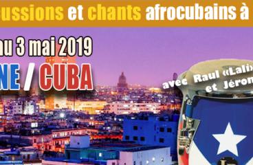 Stage de percussions à Cuba