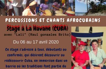 Stage de percussion à la Havane